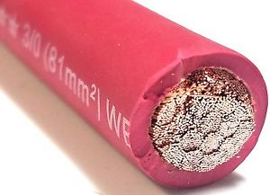 pink welding cable